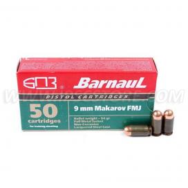 BARNAUL 9x18 Makarov FMJ 6,1g 50pcs. BOX